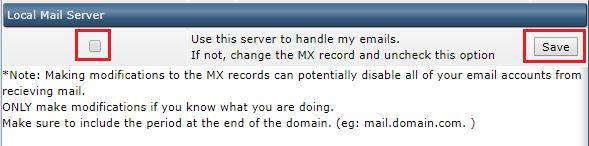 ใช้งาน MX Record ใน DirectAdmin Control Panel