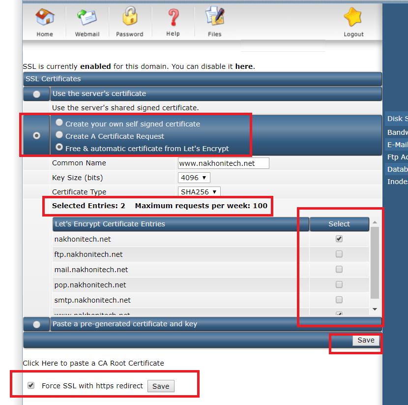 ขั้นตอนการติดตั้ง Let's Encrypt SSL Certificate